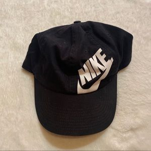 Nike Black and White Logo Hat